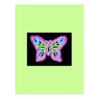 Neon Butterfly Postcard