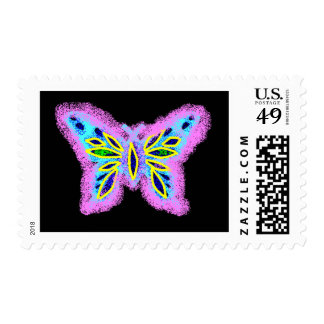 Neon Butterfly Stamp