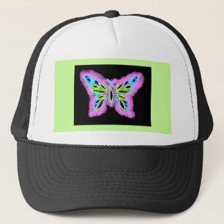 Neon Butterfly Trucker Hat