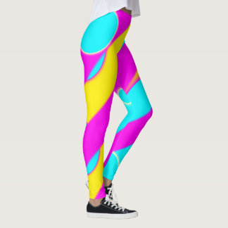 Neon Candy Kawaii Print Leggings