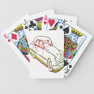 Neon Car Bicycle Playing Cards