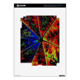 Neon Castor Plant Leaf iPad 3 Skin