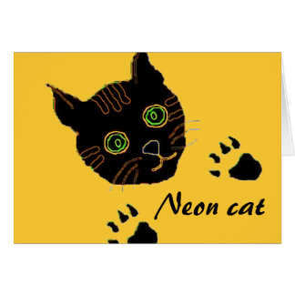 Neon cat card