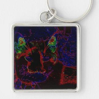 Neon Cat Key Chains