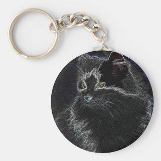 Neon Cat Key Chain