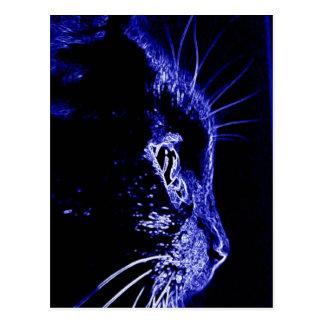 Neon Cat Postcard