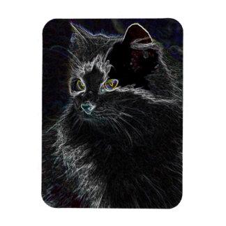 Neon Cat Rectangular Magnet