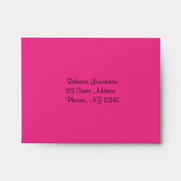 Neon Chalkboard Bat Mitzvah Envelope for RSVP Card