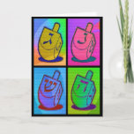 """Neon Chanukah Card<br><div class=""""desc"""">Neon Chanukah card includes happy holiday message that is perfect to send to your friends and family. Message can be customized and personalized!</div>"""
