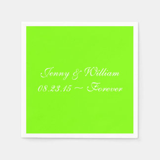 Neon Chartreuse Cool Solid Color Napkin