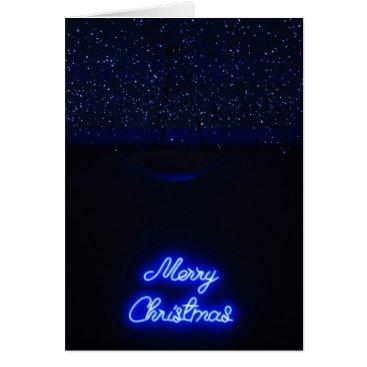 Hawaiian Themed Neon Christmas Card