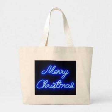 Hawaiian Themed Neon Christmas Large Tote Bag