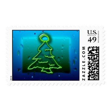 Christmas Themed neon christmas postage