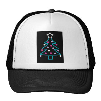 Neon Christmas Tree Trucker Hat