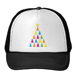 Neon Christmas Trees Trucker Hat