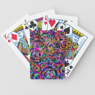 Neon Circles Bicycle Playing Cards