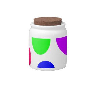 Neon Circles Design Candy Jar