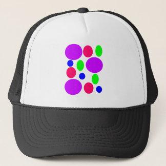 Neon Circles Design Trucker Hat