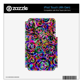 Neon Circles iPod Touch 4G Skin