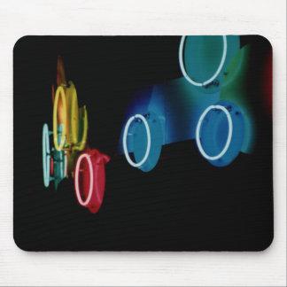 Neon Circles Mousepad