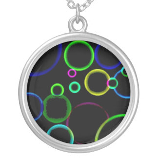 Neon Circles-Necklace Round Pendant Necklace