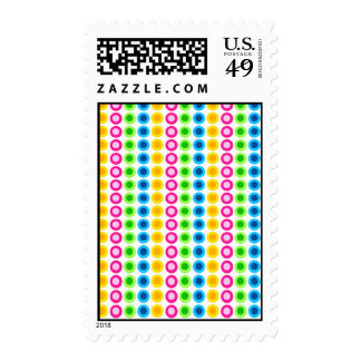 Neon Circles Patterned USPS Stamp