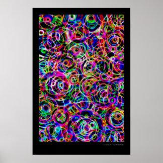 Neon Circles Print