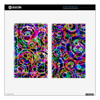 Neon Circles Skins For Kindle Fire