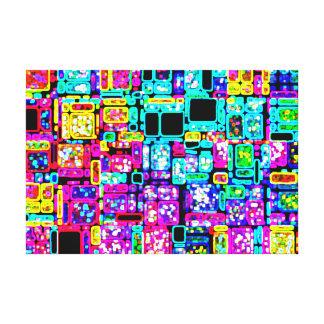 Neon City Gallery Wrap Canvas