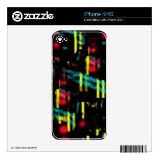 Neon city iPhone 4 skins
