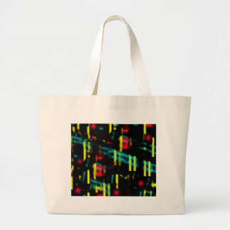 Neon city large tote bag