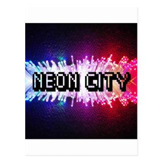 Neon City Postcard