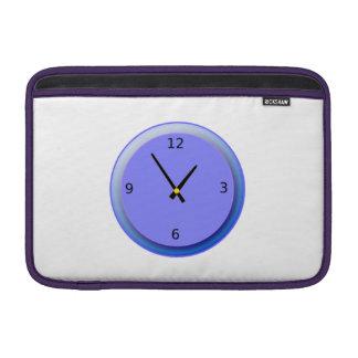 Neon Clock Displaying Time MacBook Sleeves