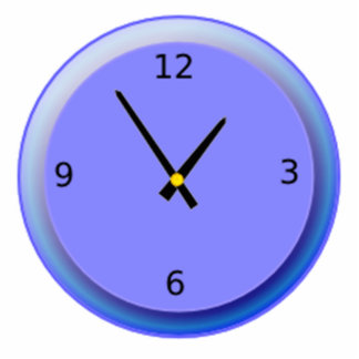 Neon Clock Displaying Time Photo Cut Out