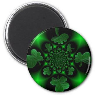 Neon Clovers 2 Inch Round Magnet