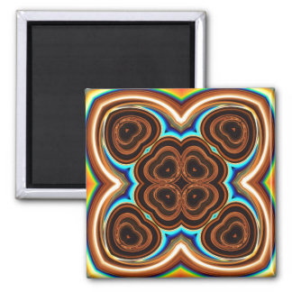 Neon Coffee Floral Abstract Fridge Magnets