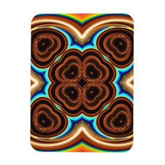 Neon Coffee Floral Abstract Rectangular Magnet