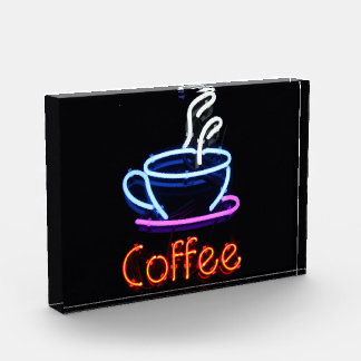 Neon Coffee Sign Acrylic Award