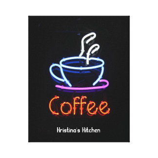 Neon Coffee Sign Canvas Print