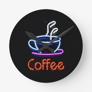 Neon Coffee Sign Wall Clocks