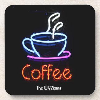 Neon Coffee Sign Coasters