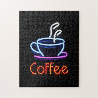 Neon Coffee Sign Jigsaw Puzzle