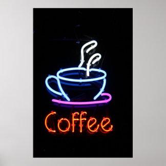 Neon Coffee Sign on Black