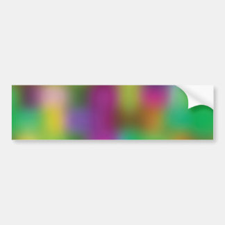 Neon color blur car bumper sticker