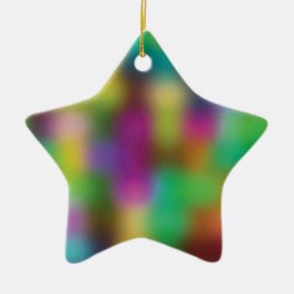 Neon color blur ceramic ornament