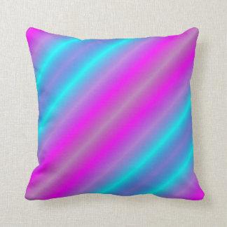 Neon Color Stripes Pillow