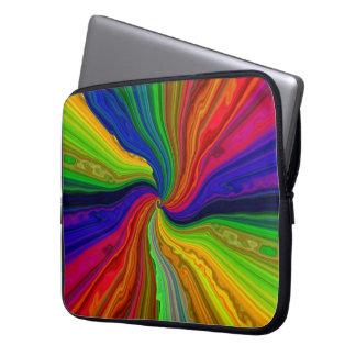 Neon Color Vortex Laptop Travel Sleeve Laptop Sleeve
