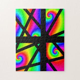 Neon Colored Puzzle