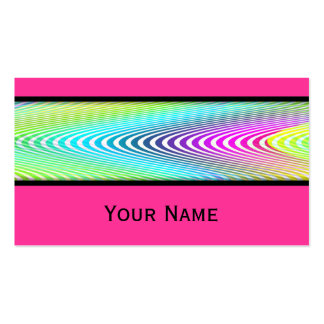 Neon Colored Waves Stripes seamless pattern Business Card