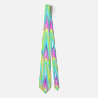Neon Colored Waves Stripes seamless pattern Tie